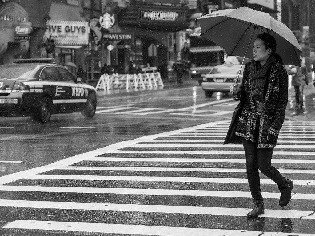 pouring rain // new york